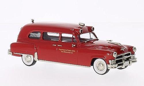 Chrysler Imperial Ambulance, New Brunswick, rot, 1953, Modellauto, Fertigmodell, Brooklin 1 43