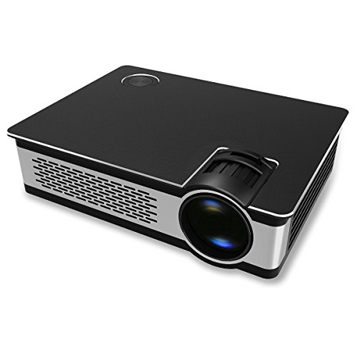 Home Theater Projector, Crenova 3200 Lumens 8GB 720P HD Smart Android Video Projector WiFi Home Cinema Support Kodi & Netflix Bluetooth Compatiable with Miracast Airplay