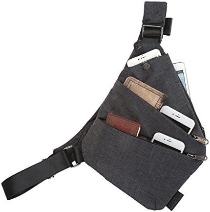 FALETO Anti-Thief Sling Bag Chest Hidden Security Crossbody Shoulder Backpack