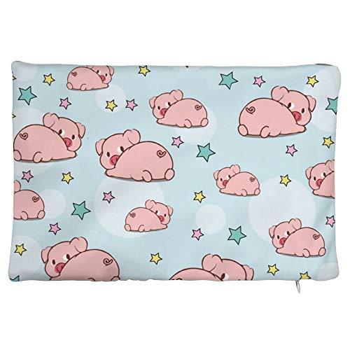 Maorongbu sostiene la funda de almohada doble, el cerdo rosa y la estrella para la cama o el sofá para decorar en casa y cocina, hotel o firme, el mejor regalo del día de la madre, Navidad, cumpleaños para mujeres, papá, amigos.