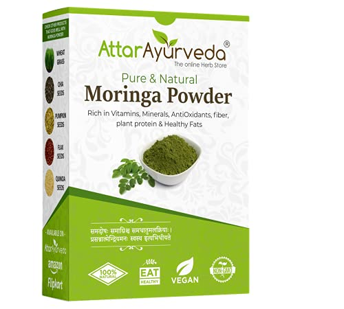 Attar Ayurveda Pure Moringa Leaf Powder for Weight Loss - 200 g