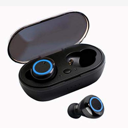 YX Mini Auriculares Bluetooth Inalámbrico In-Ear Auriculares Bluetooth Deportes Mini Auriculares Estéreo(Color:mi)