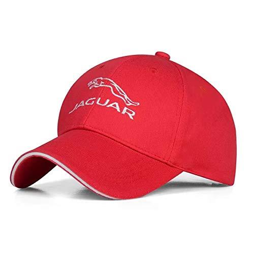 GDDCC Car Logo Embroidered Adjustable Baseball Caps for Men and Women Hat Travel Cap Car Racing Motor Hat (fit Ja red)