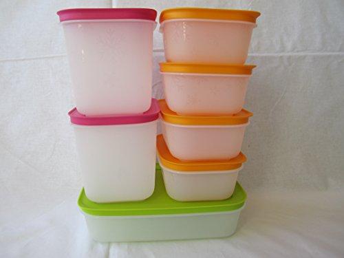 Original Tupperware Gefrierbehälter Gefrier Set (5) G07 Eiskristall Starterset einfrieren Weiterentwicklung verbesserte Eigenschaften