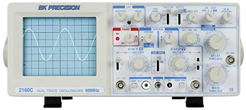 BK Precision 2160C 60 MHz Analog Oscilloscope with Built-in Component Tester and Probes
