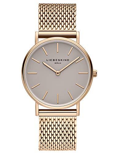Liebeskind Berlin Damen Analog Quarz Uhr mit Edelstahl Armband LT-0170-MQ