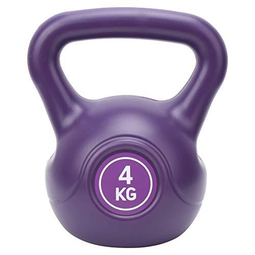 DAUERHAFT Levantamiento de Pesas de Gimnasia para el Ahorro de Espacio de la Campana de la Caldera, para la Aptitud(Purple)