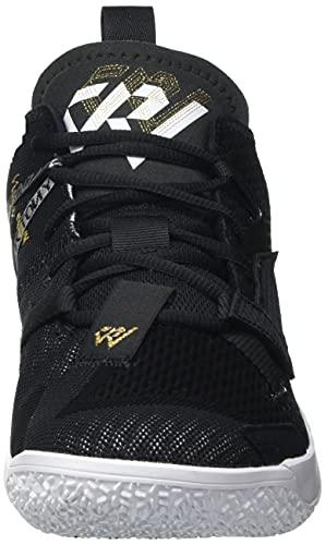 Nike Jordan Why Not Zer0.4, Zapatillas de bsquetbol Hombre, Black White Mtlc Gold, 43 EU