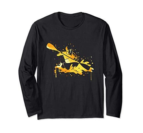 Kajak Wassersport Geschenk - Kanu Kayak Kajaker Langarmshirt