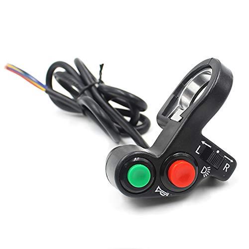 Interruptor de Encendido 12V Interruptor de Faro de la Motocicleta Interruptor Multifuncional Multifuncional Fijado Interruptor de flameo, Adecuado for la manija de la Motocicleta