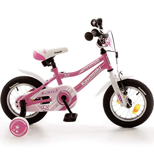 Bachtenkirch Kinderfahrrad 12,5'' Kawasaki Kuma pink-weiß