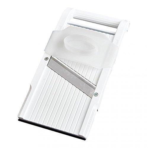 Benriner Cisaille à Mandoline Japonaise en Acier Inoxydable, sans BPA, Nouvelle Version Jumbo Blanc