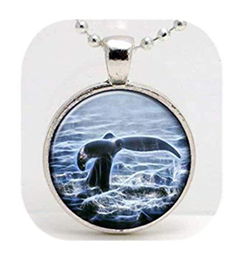 Leonid Meteor Dusche Wal Fluke Schwanz Bild Halskette, Art Glass Anhänger Halskette, Pure, handgefertigt, ein, exquisite Geschenk.