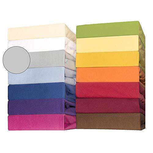 CelinaTex Lucina for Kids Baby Spannbettlaken Doppelpack 60x120-70x140 cm Silber grau Baumwolle Spannbetttuch