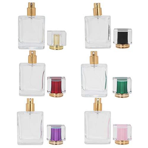 Botella de perfume recargable de 50 ml Botella de aceite esencial Botellas atomizadoras de perfume para el cuidado de la piel Loción para bolsillo para equipaje de viaje