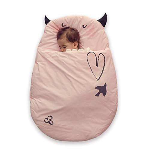 Bebamour Anti Kick Babyschlafsack Safe Nights Cotton Babyschlafsack 2.5 Tog 0-18 Monate und älter Cute Infant Boy Girls Schlafsack Baby Wrap Blanket (Pink)