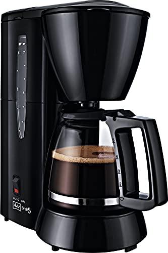 Melitta M720-1/2 Single5 M 720-1/2, ekspres do kawy z filtrem dla małych gospodarstw domowych, ekspres do kawy z filtrem, tworzywo sztuczne, szklany dzbanek, czarny