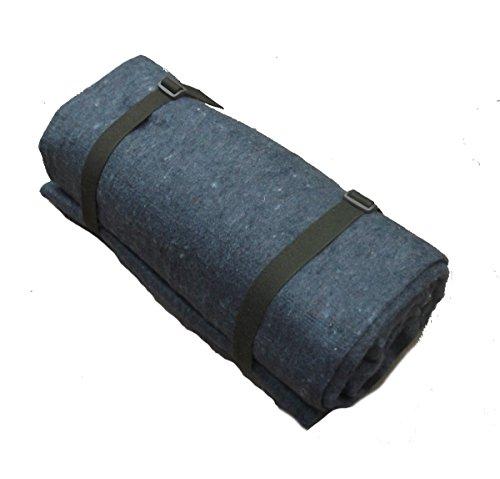 Biwakdecke dunkelgrau Decke mit Packriemen