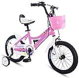 Bicicletas para niños, Bicicleta para niños 12 '14' Chico Amortiguador Amortiguador Bicicleta Chica Bicicleta Aprendizaje Auxiliar Balance Bicicleta Montaña (Color: Azul, Tamaño: 14 pulgadas)