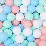 FunPa Bolas de Plástico para Piscina, 100 Piezas Bolas para Bebés Bolas Coloridas para el Océano Bolas para Jugar para los Niños Túnel Tienda de Campaña Juguete de Natación Bajo Techo Exteriores