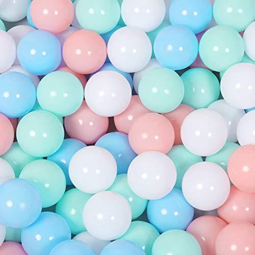 FunPa Bälle für Kinder Bällebad, 100 Stück Pool Plastikbälle Babybälle Bunte Pit Balls Ozean Bälle Spielbälle Bälle für Kinder Tunnel Zelt Schwimmen Spielzeug Drinnen Draußen Kinderspielzeug (100pcs)