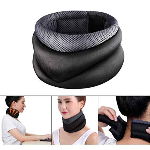 Collar de descompresión para el Cuello, Cuello elástico, Alivio del Dolor de Cuello, Soporte de corrección de Postura para el Cuello, para Dormir, Viajar, Volar, Trabajar