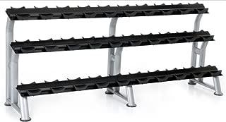 Hampton Fitness 3-Tier Fixed Pro Style Dumbbell Saddle Rack 15 Pairs