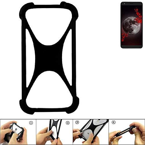 K-S-Trade® Handyhülle Für Sharp Aquos B10 Schutz Hülle Silikon Bumper Cover Case Silikoncase TPU Softcase Schutzhülle Smartphone Stoßschutz, Schwarz (1x),