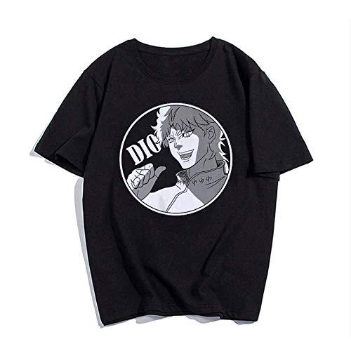 Camiseta Básica Unissex Algodão JoJo's Bizarre Adventure Dio Anime (Preto, G)