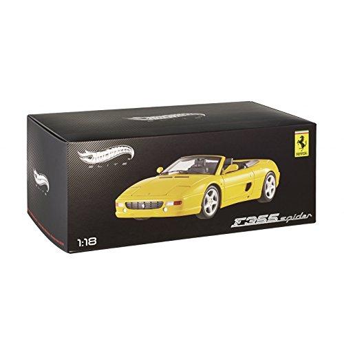 Hotwheels - Elite (mattel) - Bly35 - Véhicule Miniature - Modèle À L'échelle - Ferrari 355 Spider - Echelle 1/18