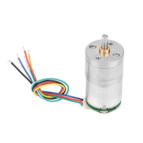 Getriebemotor, 12V GM25-310 DC Encoder Getriebemotor Drehzahlreduzierungsmotor mit Encoder und Kabel für Fensteröffner, Türöffner, Mini-Ankerwinde(DC12 70RPM)