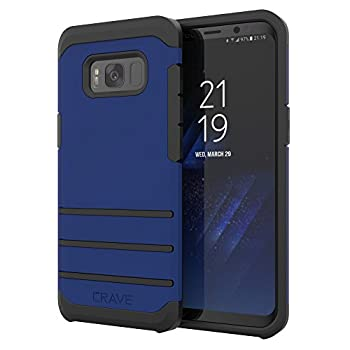 Crave Strong Guard for Samsung S8 Case Shockproof Protection Dual Layer Case for Samsung Galaxy S8 - Navy