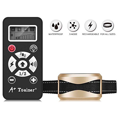 A+ Trainer 800 Yards Range Remote Dog Training Collar,(5 Years Warranty) Rechargeable and Waterproof Dog Shock Collar