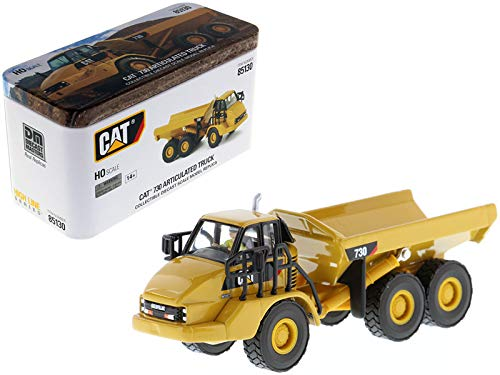 CAT Caterpillar 730 Articulated Dump Truck with Operator High Line Series 1/87 (HO) Scale Diecast Model by Diecast Masters 85130