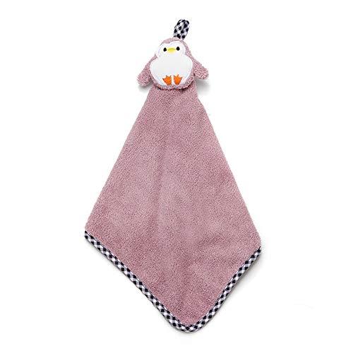Fliyeong - Toalla de mano para colgar, diseño de animales, color rosa