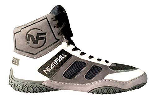 Nearfall Adult Wrestling Shoe's (Grey, White, Numeric_6_Point_5)