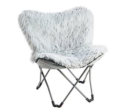 Fur Chair - Glacier Gray