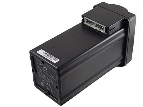 vhbw Akku passend für Wolf-Garten Hybrid Power 37, 40 Rasenroboter Rasenmäher (3000mAh, 36.5V, Li-Ion)