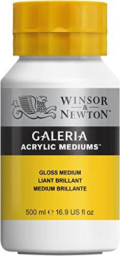 Winsor & Newton 3050820 Galeria Glanz Medium, 500 ml Topf, erhöht die Farbtiefe und die transparenz der Farbe