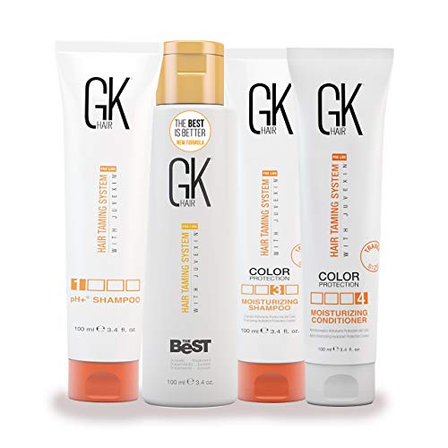 Global Keratin GKhair The Best Professional Hair Straightening, Smoothing Keratin Treatment Kit (100ml/3.4 fl. oz) For Silky, Smooth Natural Hair
