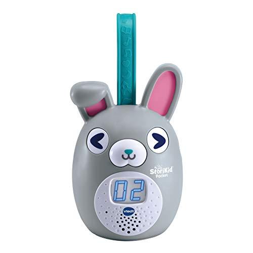 VTech StoriKid Pocket, cuentacuentos portátil para acompañar al bebé en Cualquier Lugar, Juguete +6 Meses, Graba Tus Propios Cuentos, Temporizador, Versión ESP, Color Gris (3480-613767)