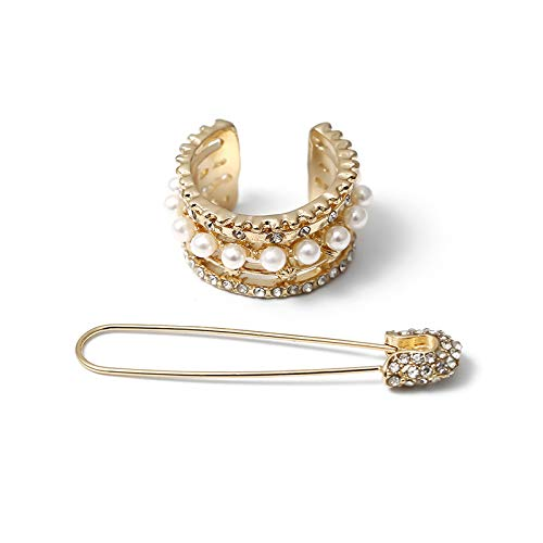 2 pares (4 unidades) de pendientes de perlas de cristal de moda para niñas