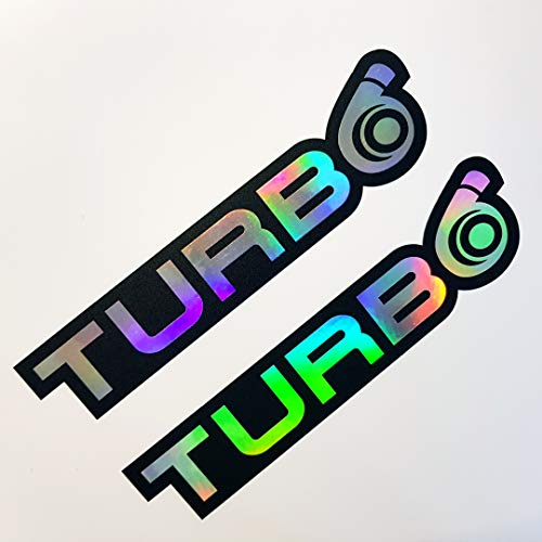 folien-zentrum 2X Turbo Oilslick Rainbow Flip Flop Schwarz Aufkleber Metallic Effekt Shocker Hand Auto JDM Tuning OEM Dub Decal Stickerbomb Bombing Sticker Illest Dapper Fun Oldschool