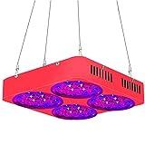 QIDIAN LED coltiva la Luce 100W Full Spectrum, coltiva Le luci per Le Piante al Coperto con Luce della pianta per Le Piante d'Veg e Fiore (Perle 108 Lampada LED)