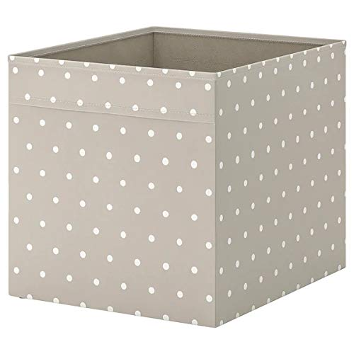 IKEA DRÖNA Fach - beige mit weißen Punkten 33 x 38 x 33 cm