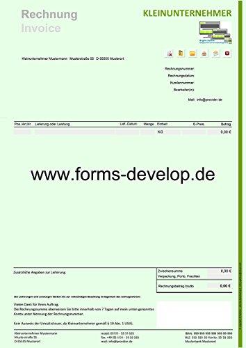 Faktura småföretag PDF formulär A4H standard