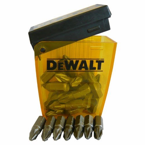DeWalt DT7908 25 Piece No.2 PZ2 Screwdriver Bit Set + Flip Top Case