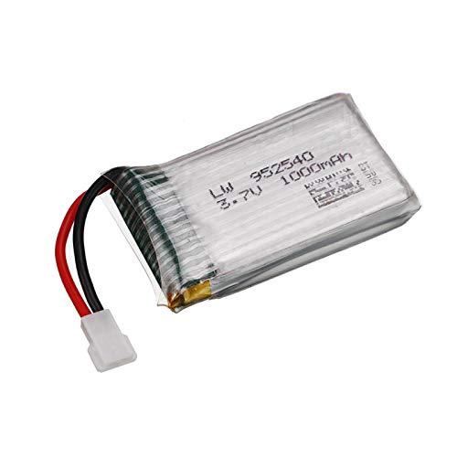 Styleart Batería de 3.7v para Syma X5 X5C X5SC X5SW TK M68 MJX X705C SG600 Repuesto de Drone RC 3.7V 1000mAh 952540 Juego de Cargador de batería Lipo Blue