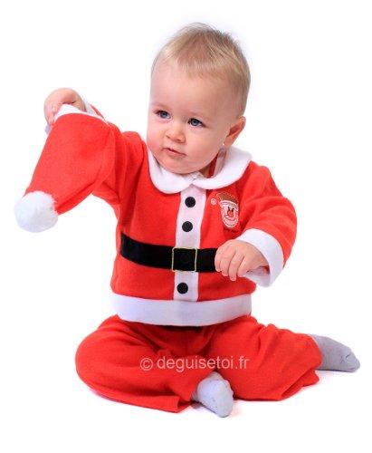 Generique - Costume Babbo Natale Bebè - 12 Mesi (80)
