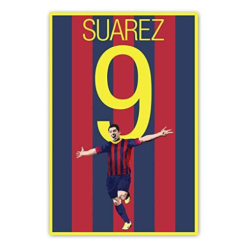 Barcelona Soccer Print - Luis Suárez Poster - Soccer Art - Unframed Football Print - Soccer Decoration - Uruguay Soccer Poster - Graphics 17 - Suarez Football Art